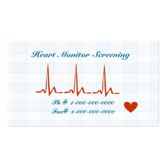 Heart Monitor Screening Appointment Card Business Card Templates