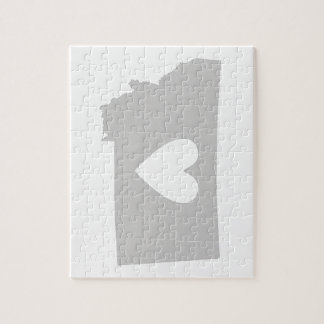 Heart Montana state silhouette Jigsaw Puzzle