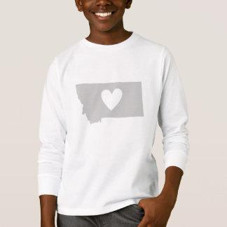 Heart Montana state silhouette T-Shirt