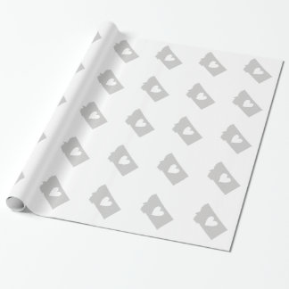 Heart Montana state silhouette Wrapping Paper