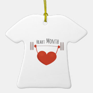 Heart Month Christmas Ornament