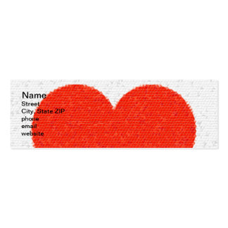 Heart Mosaic Triangles Pack Of Skinny Business Cards