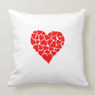 Heart Motif Throw Pillow