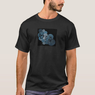 Heart music clefs and blue polka dots T-Shirt