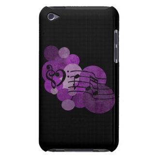 heart music clefs and purple polka dots ipod case