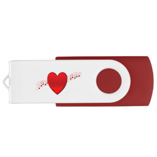 Heart Music USB Flash Drive
