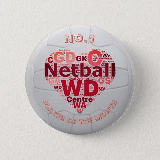Heart Netball Player Reward Pin Badge