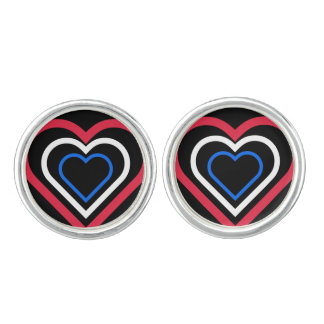 Heart Netherlands/Dutch flag--inspired Cufflinks