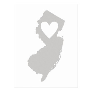 Heart New Jersey state silhouette Postcard