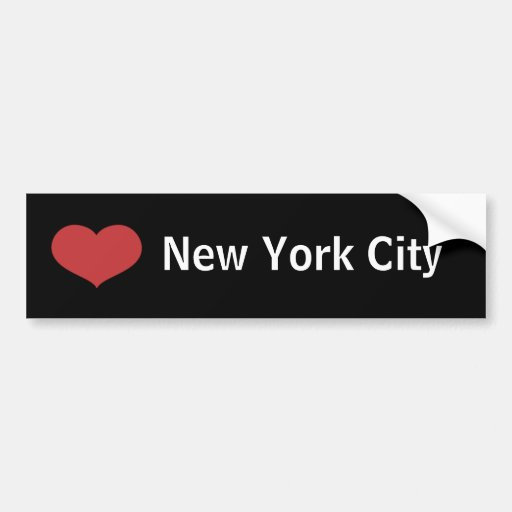 Heart New York City Bumper Stickers