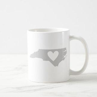 Heart North Carolina state silhouette Coffee Mug