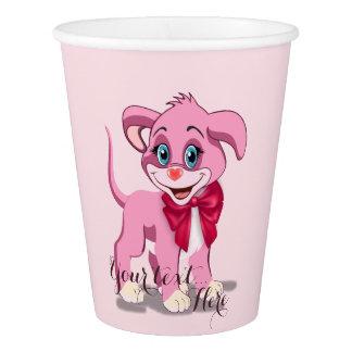Heart Nose Pink Puppy Cartoon