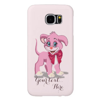Heart Nose Pink Puppy Cartoon Samsung Galaxy S6 Cases