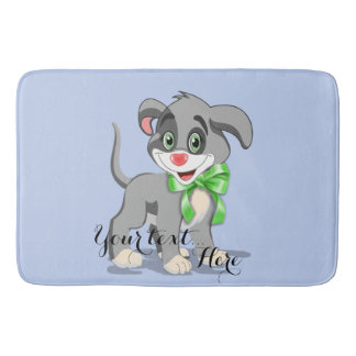 Heart Nose Puppy Cartoon Bath Mat