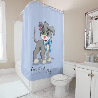 Heart Nose Puppy Cartoon Shower Curtain