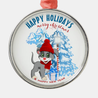 Heart Nose Puppy Christmas Cartoon Christmas Ornament