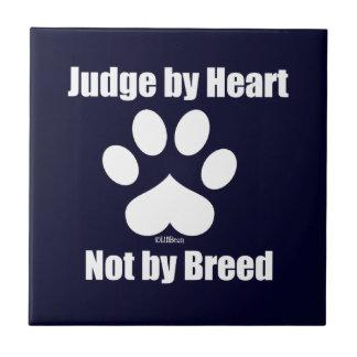 Heart Not Breed - Navy Tile