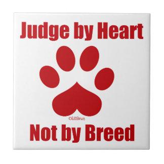 Heart Not Breed Tile