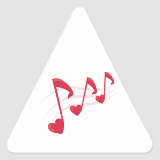 Heart Notes Triangle Sticker