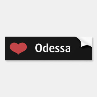 Heart Odessa Car Bumper Sticker