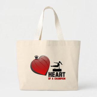 Heart of a Champion Gymnastics Jumbo Tote Bag