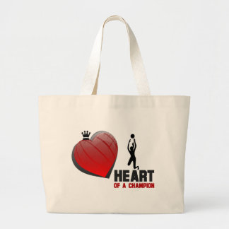 Heart of a Champion Ladies Volleyball Jumbo Tote Bag