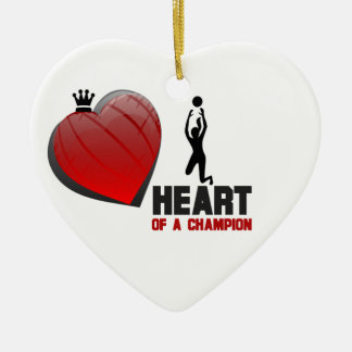 Heart of a Champion Ladies Volleyball Ornament
