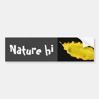 heart of a leaf bumper sticker