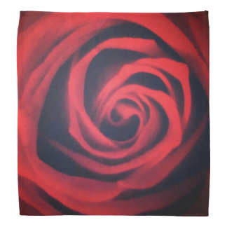 Heart of a Red Rose Bandannas