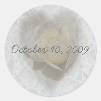 Heart of a Rose Round Sticker