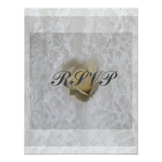Heart of a Rose RSVP Card