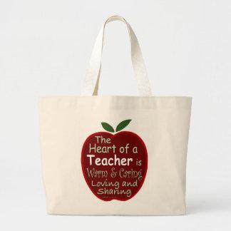 Heart of a Teacher Tote Bag