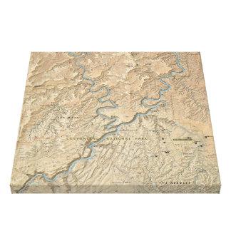 Heart of Canyonlands (Utah) map canvas print