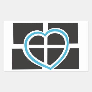 Heart of Cornwall Rectangular Sticker