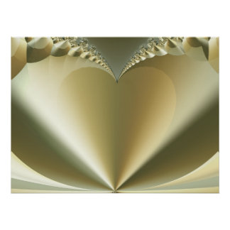 Heart of Gold Abstract Art Poster