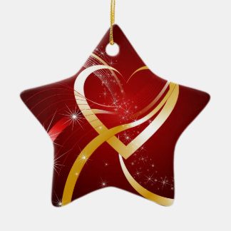 Heart Of Gold Ceramic Star Decoration