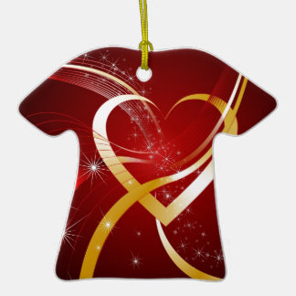 Heart Of Gold Christmas Ornament