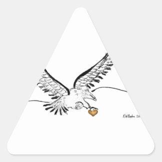 Heart of Gold Eagle Triangle Sticker