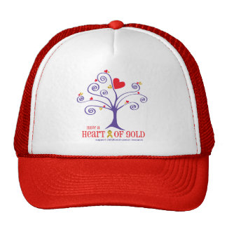 Heart of Gold for childhood cancer Cap