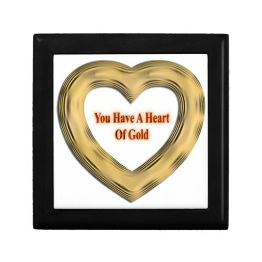 Heart of Gold Trinket Box