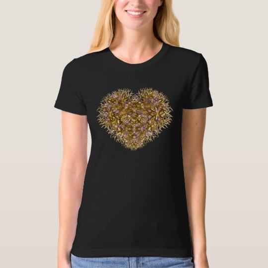 Heart of Gold on Black T-Shirt