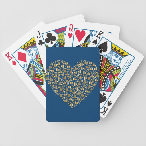 Heart of Gold Valentine Bicycle Playing Cards