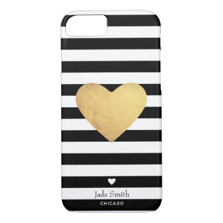 Heart Of Gold With Stripes iPhone 8/7 Case