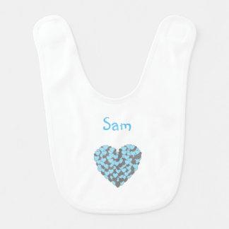 Heart of hearts baby bib