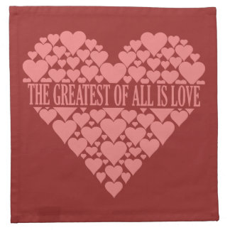 Heart of Hearts custom cloth napkins