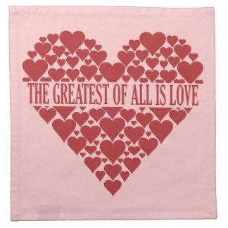 Heart of Hearts custom cloth napkins