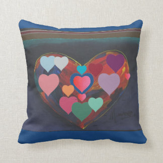 Heart of Hearts Love Throw Pillow Throw Cushion