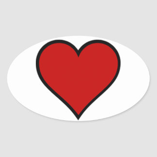Heart of Hearts Oval Stickers