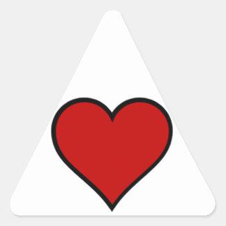 Heart of Hearts Triangle Sticker