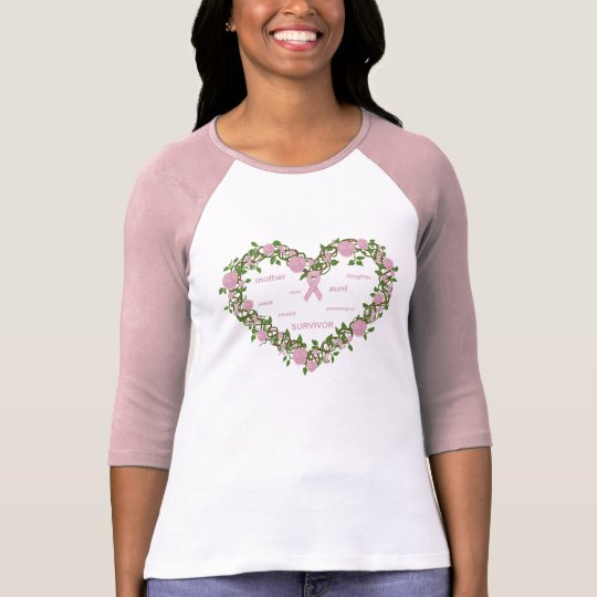 Heart of Hope - Ladies Fitted Raglan T-Shirt